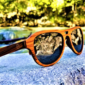 Rose Wood Sunglasses with Grey Lenses Handmade
